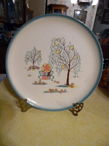 Brock of California Forever Yours dinner plate 11""