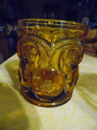 Amber Moon and Stars whiskey old fashioned 3 3/4""