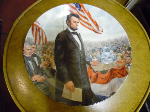 Knowles The Gettysburg Address Lincoln Man Of America Series plate