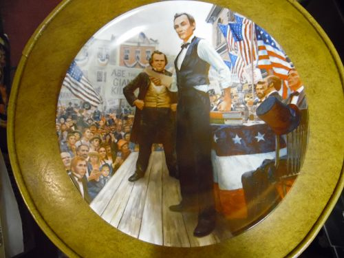 Knowles Lincoln-Douglas debates limited edition collector plate