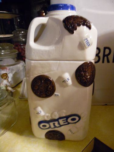 Oreo ceramic milk jug cookie jar
