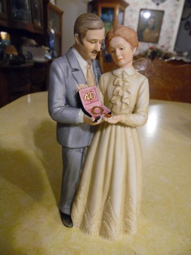 "Treasured Memories ""Forty Years Together""  Enesco figurine"