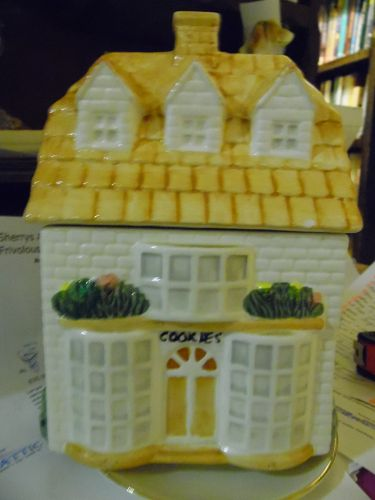 Ceramic Cookie Shop house cookie jar