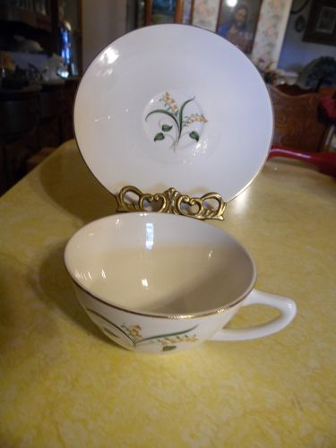 Knowles China Forsythia pattern cup and saucer
