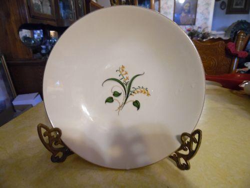 Edwin Knowles China Forsythia pattern soup bowl