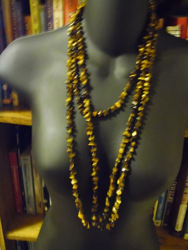 Beautiful 80 inch tigers eye necklace Carolyn Pollack QVC