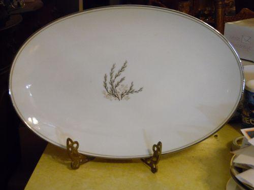 "Vintage Noritake Candice dinner plate #5509 oval platter 14"""