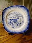 Early American by Salem bread and butter plate flow blue
