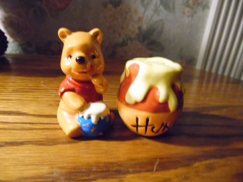 Winnie the Pooh and honey pot salt and pepper shakers