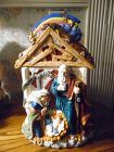 Birth of Jesus Manger ceramic cookie jar by Mercuries