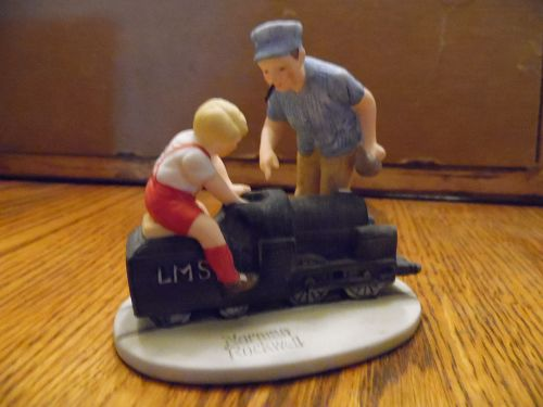 Gorham Norman Rockwell ltd Ed Engineers figurine Massachussets Mutual