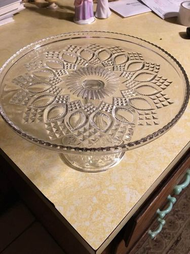 EAPG Louisiana cake stand US glass  Bryce