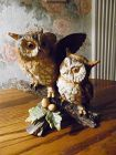 Home Interiors Homco Couple Owls on oak limb 1404 Figurine