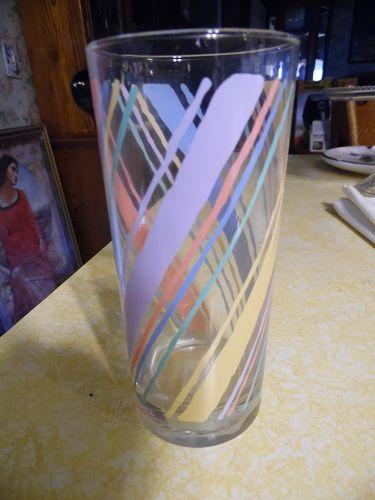 Vintage fiesta pastel diagonal multi stripes tumbler
