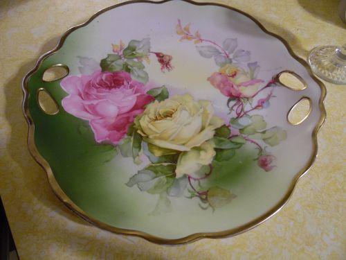 Prince Regent Bavaria  Germany roses cake plate