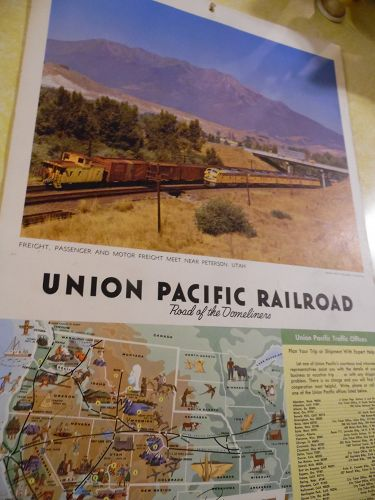 Union Pacific Railroad calendar 1966 12.5 x 23 Complete