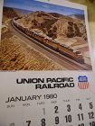 Union Pacific Railroad calendar 1980 12.5 x 23 Complete