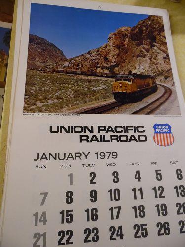 Union Pacific Railroad calendar 1979 12.5 x 23 Complete