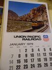 Union Pacific Railroad calendar 1979 12.5 x 23 Complete