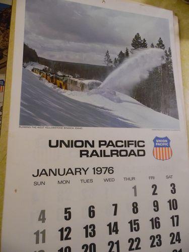 Union Pacific Railroad calendar 1976 12.5 x 23 Complete Bicentennial