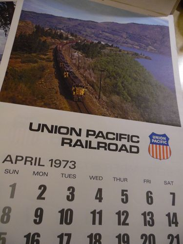 Union Pacific Railroad calendar 1973 12.5 x 23 Complete Bicentennia