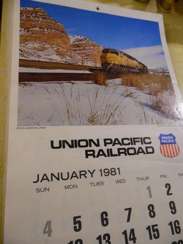 Union Pacific Railroad calendar 1981 12.5 x 23 Complete