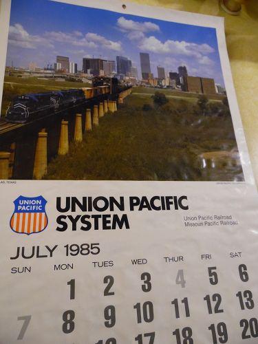 Union Pacific Railroad calendar 1985 12.5 x 23 Complete
