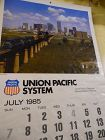 Union Pacific Railroad calendar 1985 12.5 x 23 Complete