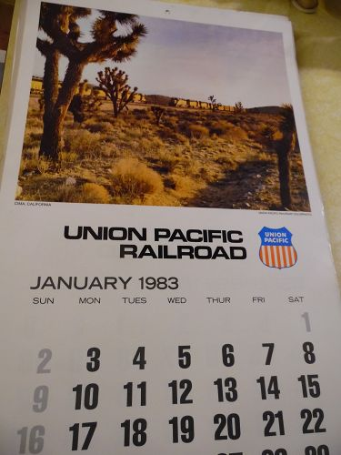 Union Pacific Railroad calendar 1983 12.5 x 23 Complete