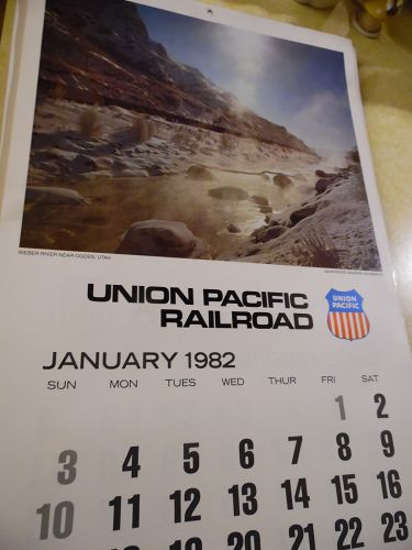 Union Pacific Railroad calendar 1982 12.5 x 23 Complete