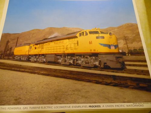 Union Pacific Gas turbine-electric locomotive color print late 50s