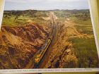 Union Pacific third track  main line double  color print late 50s