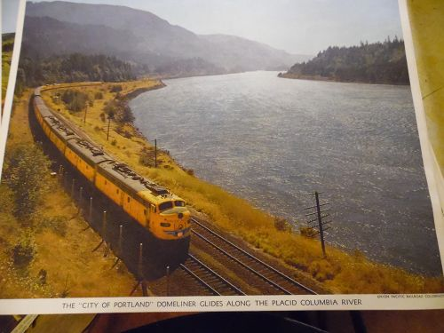 Union Pacific The City Of Portland Domeliner color print late 50s