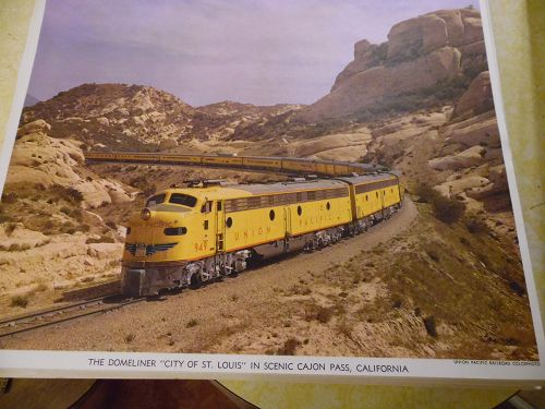 Union Pacific  Domeliner City of St Louis color print late 50s