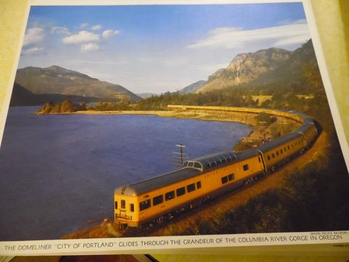 Union Pacific  Domeliner City of Portland glides  color print late 50s