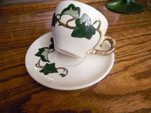 Metlox Poppytrail California Ivy cup and saucer