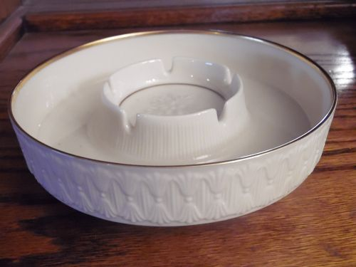 Retired Vintage Lenox  Stratford Ashtray Large Round 24K gold trim
