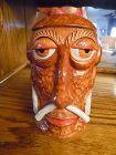 Rare OMC  Mr Bali Hai native head tiki mug concave bottom