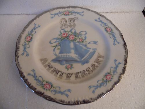 Norcrest 25th Wedding  Anniversary gift plate