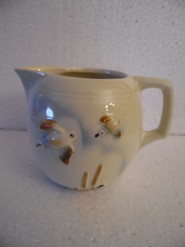 Porcelier China Flight, Cream pitcher, Flying Ducks Over Cattails