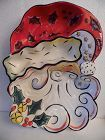 Clay Art Merry Santa chip and dip platter 2004