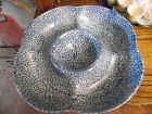 Rare, N S Guston blue stipple blue sponge  chip and dip server