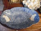 N S Gustin Los Angeles Blue stipple white duck bread tray  dish