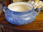 Blue Stipple by N. S. Gustin Co casserole sponged