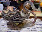 Hand blown swan centerpiece bowl vase