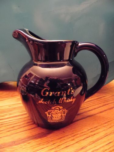 Wade's Grant's scotch whiskey advertising pitcher