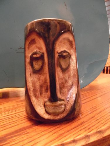 Design by Mara Tiki Moi  style over sized stoneware mug