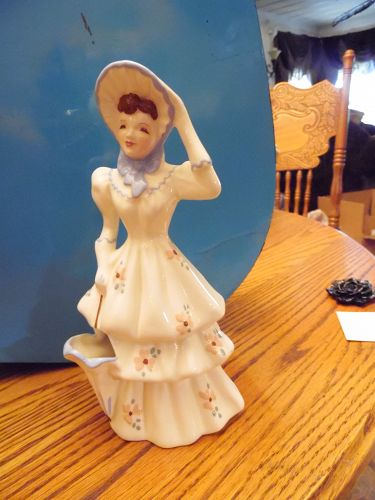 Florence Ceramics Emily Lady Figurine planter with parasol