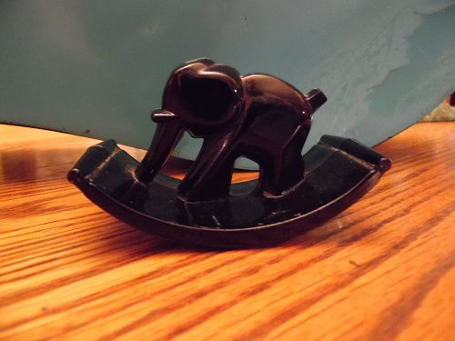 Black Glass ELEPHANT ROCKER INK BLOTTER