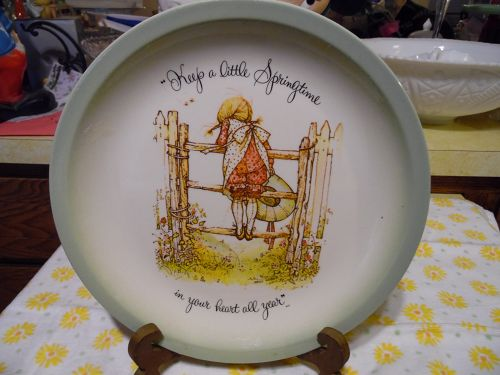 Vintage Holly Hobbie Plate Keep a little Springtime in your heart